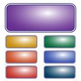 Bouton rectangulaire pourpre de vecteur Ensemble de différents boutons colorés illustration libre de droits
