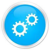 Bouton rond bleu cyan de la meilleure qualité d'icône de processus illustration stock