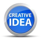 Bouton rond bleu d'idée créative illustration libre de droits