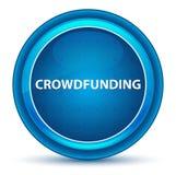 Bouton rond bleu de globe oculaire de Crowdfunding illustration de vecteur