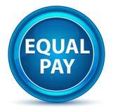 Bouton rond bleu de globe oculaire d'égalité de salaires illustration stock