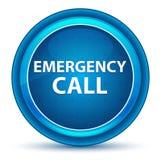 Bouton rond bleu de globe oculaire d'appel d'urgence illustration libre de droits