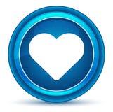 Bouton rond bleu de globe oculaire d'icône de coeur illustration libre de droits
