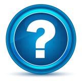 Bouton rond bleu de globe oculaire d'icône de point d'interrogation illustration libre de droits
