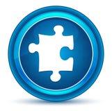 Bouton rond bleu de globe oculaire d'icône de puzzle illustration stock