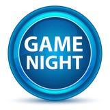 Bouton rond bleu de globe oculaire de nuit de jeu illustration stock