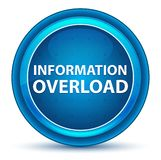 Bouton rond bleu de globe oculaire de surcharge d'information illustration libre de droits