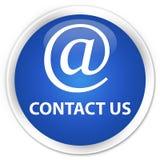 Bouton rond bleu de la meilleure qualité de contactez-nous (icône d'adresse e-mail) illustration de vecteur