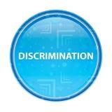 Bouton rond bleu floral de discrimination illustration libre de droits