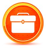 Bouton rond orange naturel d'ic?ne de serviette illustration libre de droits