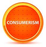 Bouton rond orange naturel de consommationisme illustration libre de droits