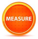 Bouton rond orange naturel de mesure illustration libre de droits