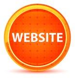 Bouton rond orange naturel de site Web illustration de vecteur