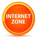 Bouton rond orange naturel de zone d'Internet illustration stock