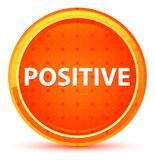 Bouton rond orange naturel positif illustration stock