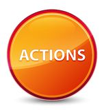 Bouton rond orange vitreux spécial d'actions illustration stock