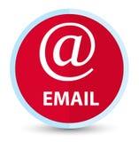 Bouton rond rouge principal plat d'email (icône d'adresse) illustration stock