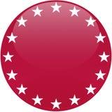 Bouton rouge avec les étoiles blanches Image libre de droits