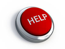 Bouton rouge d'aide Image libre de droits