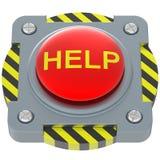 Bouton rouge d'aide Photographie stock libre de droits