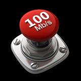 Bouton rouge d'isolement Image libre de droits