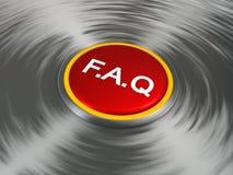 Bouton rouge de FAQ Image stock