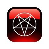 Bouton rouge de pentagramme Photo libre de droits