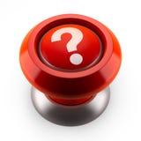 Bouton rouge de question Image stock