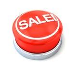 Bouton rouge de vente Image stock