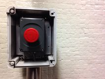 Bouton rouge horizontal Photo libre de droits