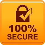 bouton sûr du Web 100 illustration stock