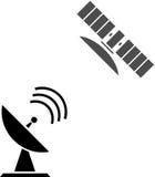 Bouton satellite d'icône Photos libres de droits