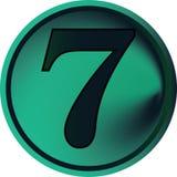 Bouton-sept numéral Photographie stock