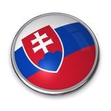 Bouton Slovaquie de drapeau illustration libre de droits