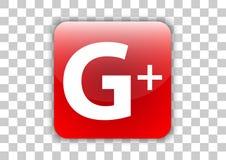 Bouton social d'icône de media de Gplus avec le symbole à l'intérieur illustration libre de droits