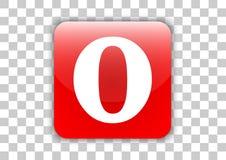 Bouton social d'icône de media de navigateur d'opéra avec le symbole à l'intérieur illustration libre de droits