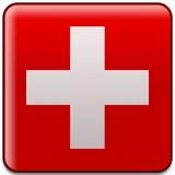 Bouton suisse d'indicateur Photo libre de droits