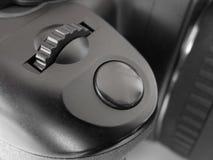 Bouton sur l'appareil-photo de photo Image stock