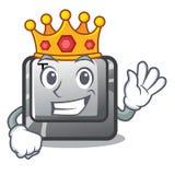 Bouton T de roi dans la forme de mascotte illustration libre de droits