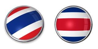 bouton Thaïlande de drapeau illustration stock