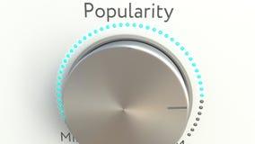 Bouton tournant avec l'inscription de popularité Rendu 3d conceptuel Images libres de droits