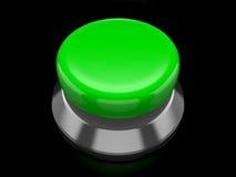 Bouton vert Images libres de droits