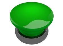 Bouton vert d'avertisseur sonore Image stock