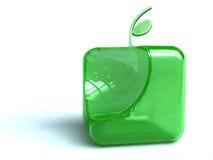 Bouton vert de pomme Images libres de droits