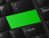 Bouton vert sur le blanc vide de macro illustration de clavier illustration stock