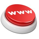 Bouton WWW Image libre de droits