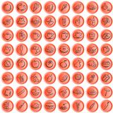 Boutonne des symboles de nourriture de whith Photos libres de droits