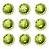 boutonne l'or d'eco illustration stock