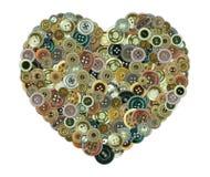 Boutonne la forme de coeur Image libre de droits