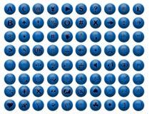 Boutonne le bleu Image stock
